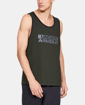 Men's UA Sportstyle Cotton Tank  1  Color Available $25