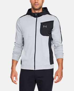 New Arrival  Men's UA Microthread Terry Full Zip Hoodie  2  Colors Available $90