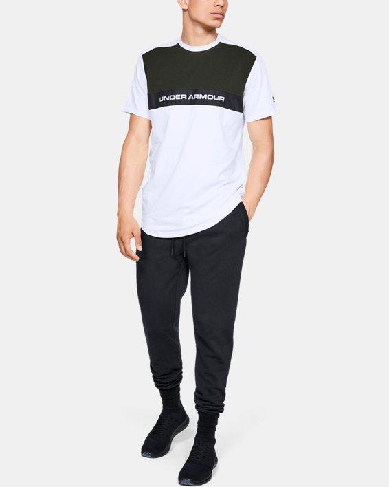 Men's UA Sportstyle Woven Script T-Shirt, White, pdpMainDesktop image number 1