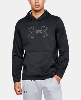 New Arrival Men's UA Performance Fleece Graphic Hoodie  1  Color Available $55