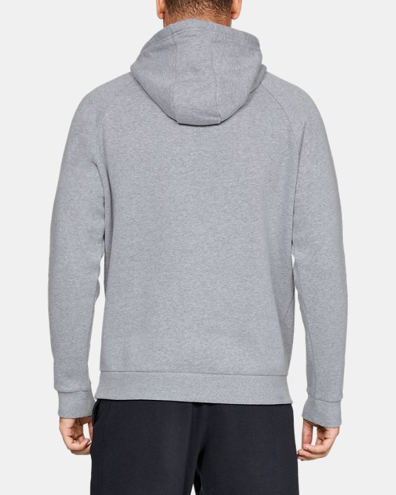 Men's UA Rival Fleece Logo Hoodie, Gray, pdpMainDesktop image number 2
