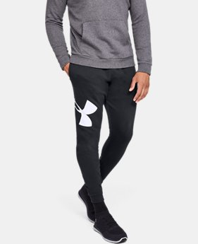 Best Seller Men's UA Rival Fleece Logo Joggers  1  Color Available $45
