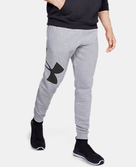 New Arrival Men's UA Rival Fleece Logo Joggers FREE U.S. SHIPPING 3  Colors Available $45