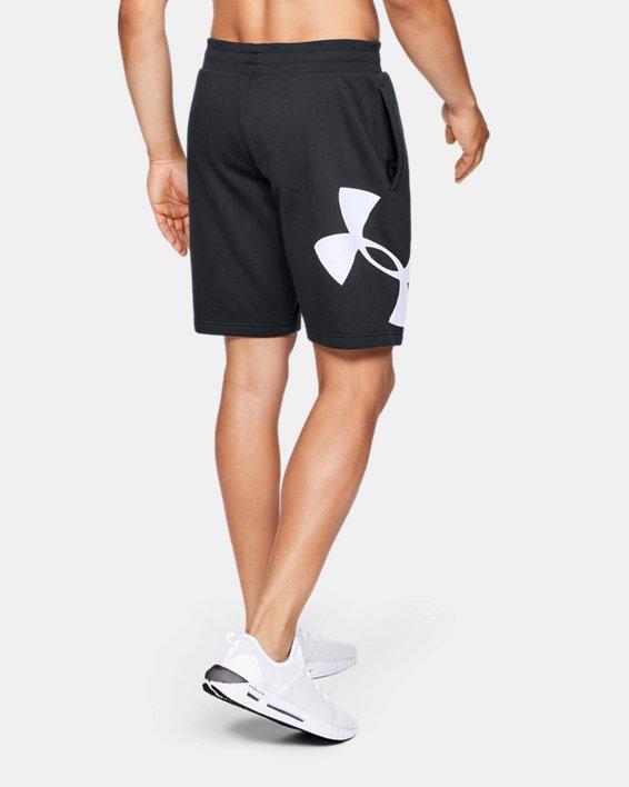 Men's UA Rival Fleece Logo Shorts, Black, pdpMainDesktop image number 2