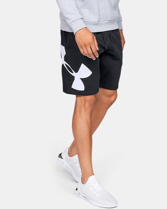 Men's UA Rival Fleece Logo Shorts, Black, pdpMainDesktop image number 0