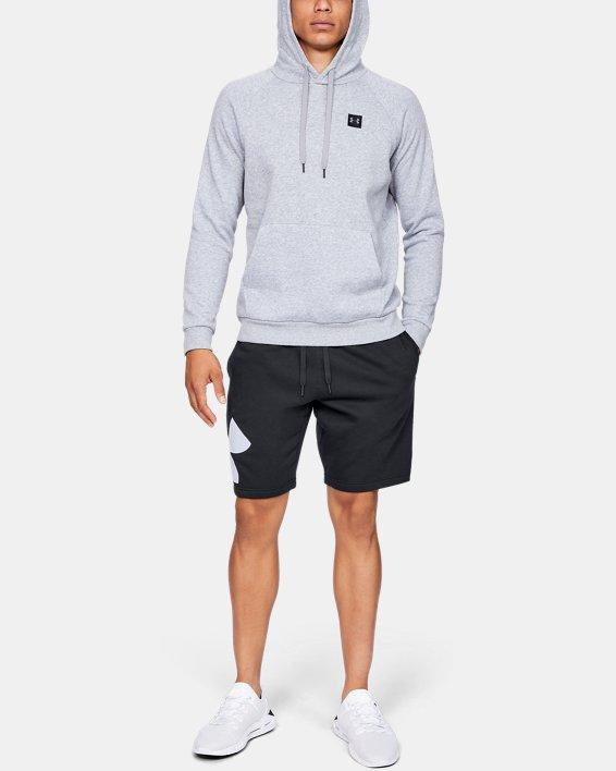 Men's UA Rival Fleece Logo Shorts, Black, pdpMainDesktop image number 1