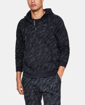 New Arrival  Men's UA Rival Fleece Camo Full Zip Hoodie  2  Colors Available $75