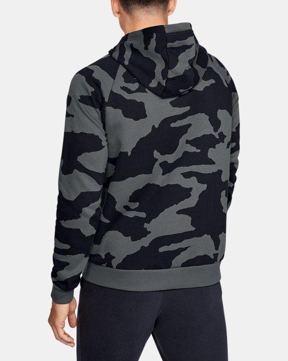 Men's UA Rival Fleece Camo Full Zip Hoodie, Gray, pdpMainDesktop image number 2