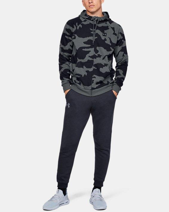 Men's UA Rival Fleece Camo Full Zip Hoodie, Gray, pdpMainDesktop image number 1