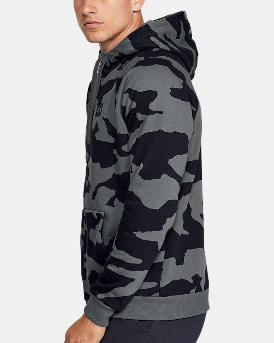 Men's UA Rival Fleece Camo Full Zip Hoodie, Gray, pdpMainDesktop image number 3