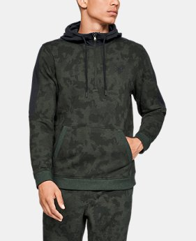 New Arrival  Men's UA Microthread Fleece Camo ½ Zip  1  Color Available $85