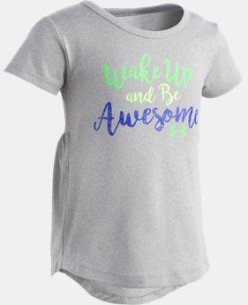 New Arrival Girls' Pre-School UA Wake Up And Be Awesome  1 Color $22