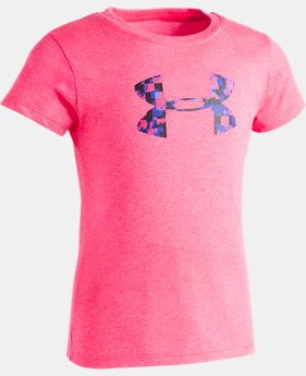 New Arrival Girls' Pre-School UA Overlay Print Logo T-Shirt  FREE U.S. SHIPPING 1  Color Available $18