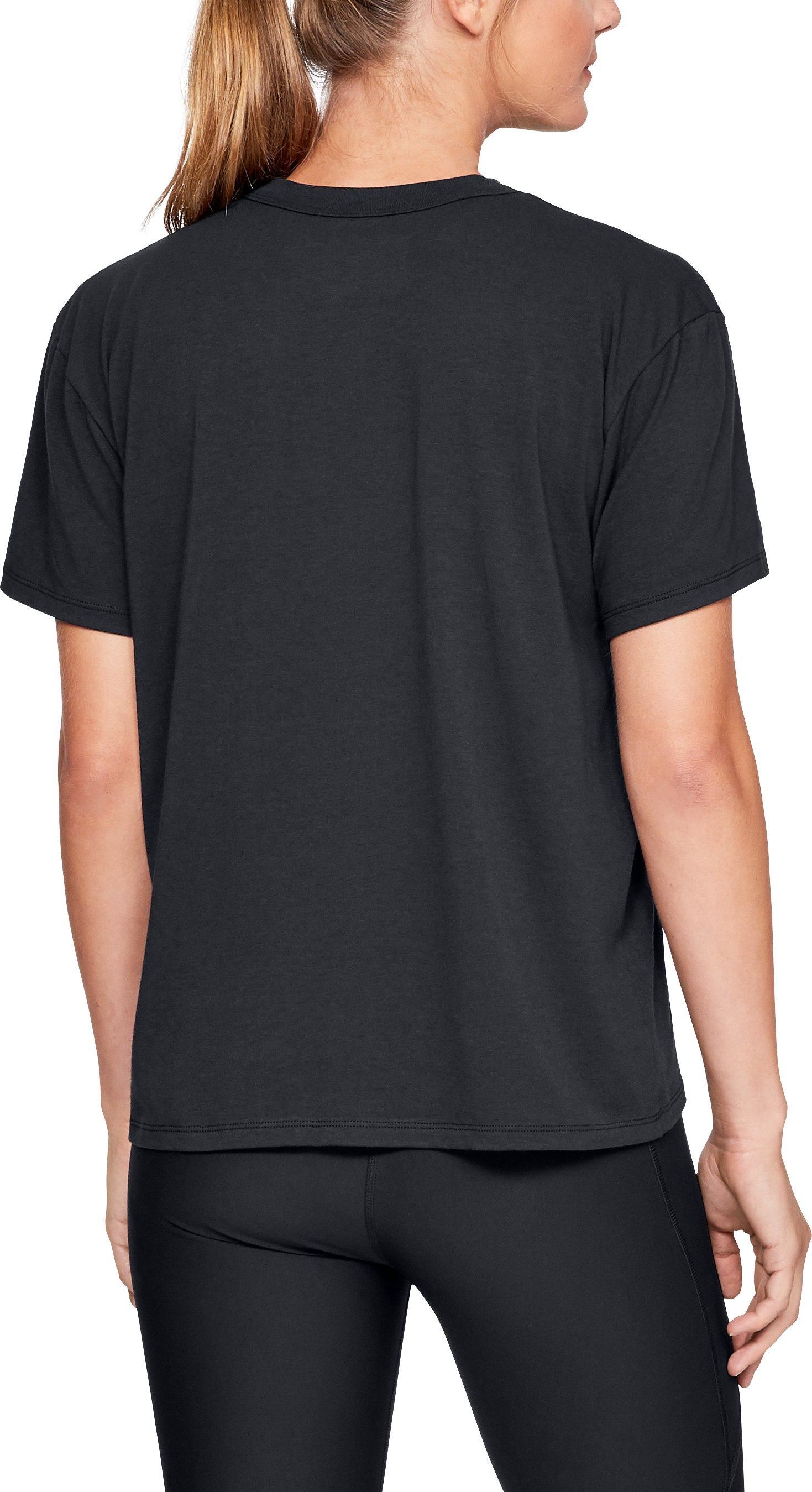 UA Pride Big Logo Crew Short Sleeve, Black ,