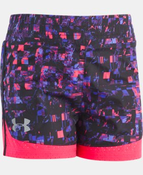 Girls' Pre-School UA Overlay Run Shorts  1  Color $22
