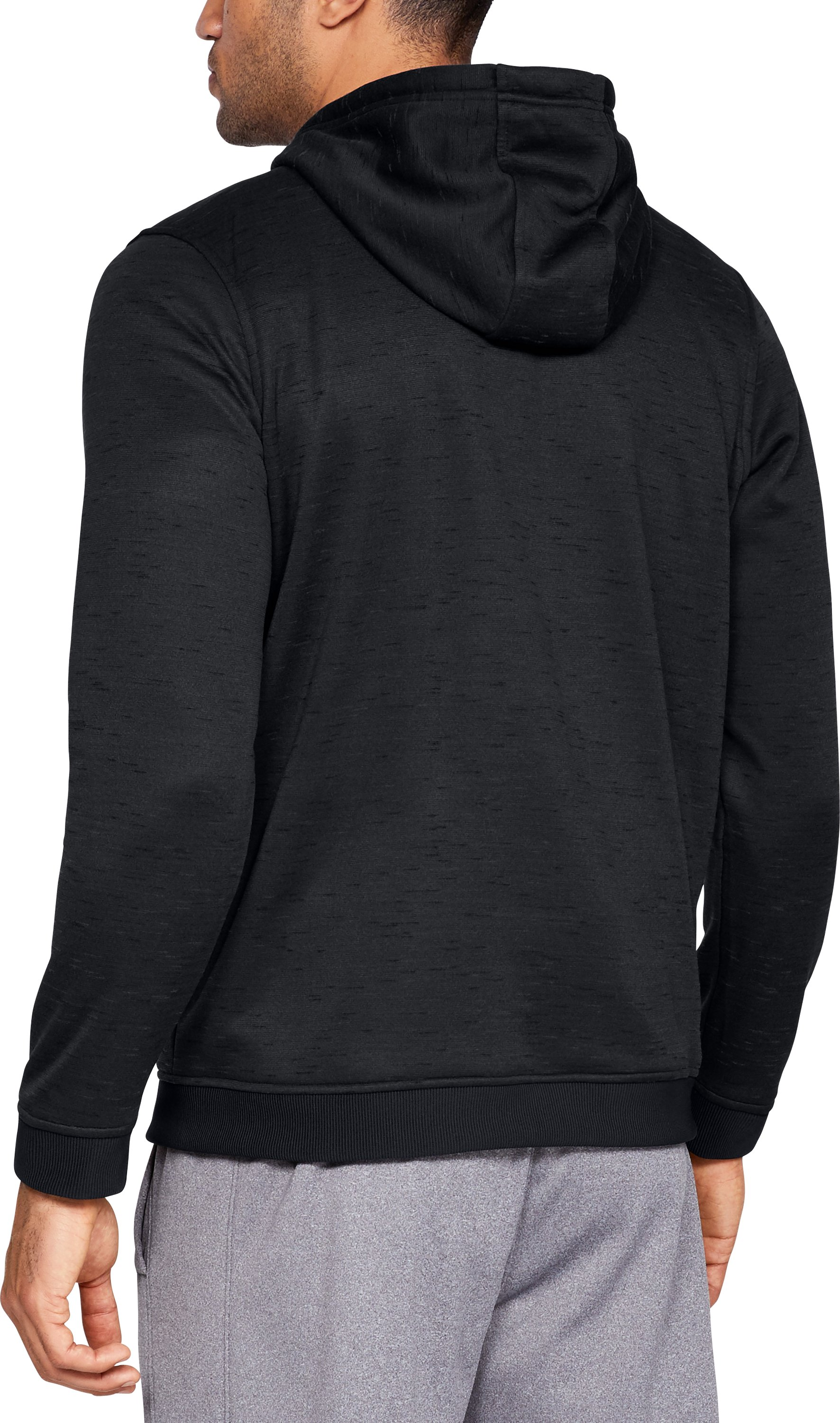 Men's Armour Fleece® ½ Zip Hoodie, Black ,