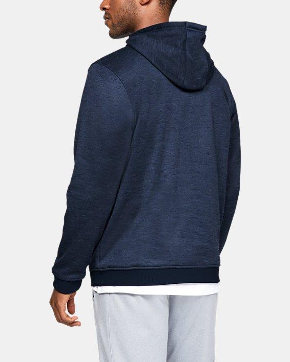 Men's Armour Fleece® ½ Zip Hoodie, Navy, pdpMainDesktop image number 2