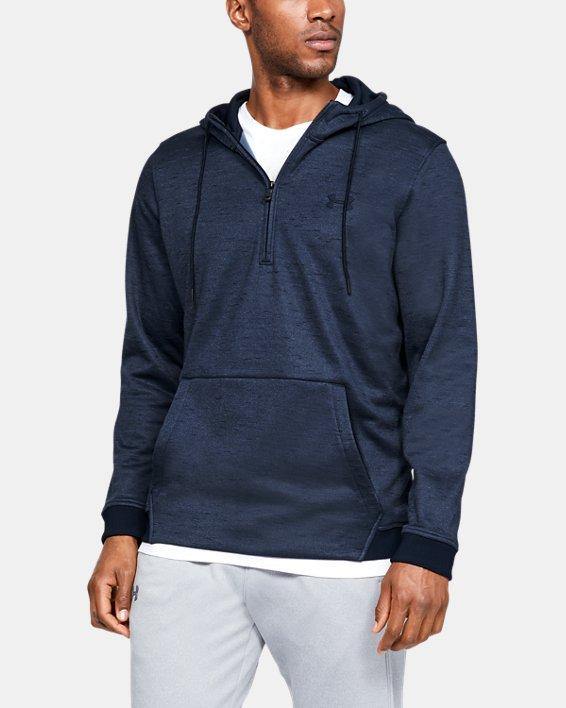 Men's Armour Fleece® ½ Zip Hoodie, Navy, pdpMainDesktop image number 0