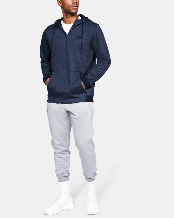 Men's Armour Fleece® ½ Zip Hoodie, Navy, pdpMainDesktop image number 1
