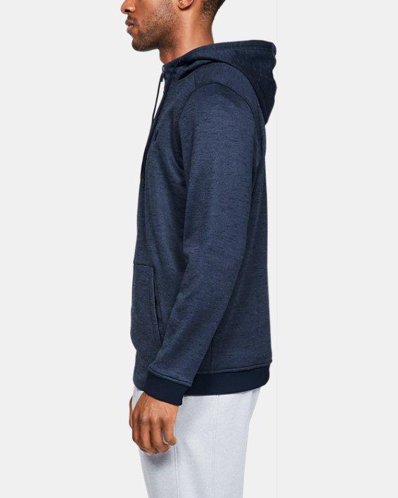 Men's Armour Fleece® ½ Zip Hoodie, Navy, pdpMainDesktop image number 3