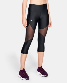 New Arrival Women's HeatGear® Armour Mesh Capri  2  Colors Available $40