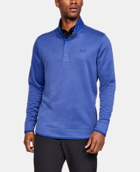 Best Seller  Men's UA Storm SweaterFleece Heather Snap Mock  1  Color Available $90