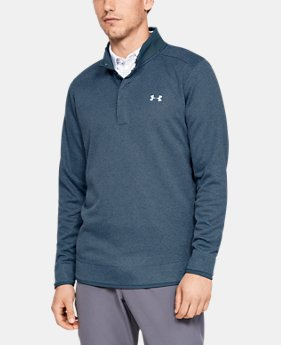 Best Seller Men's UA Storm SweaterFleece Heather Snap Mock  2  Colors Available $75