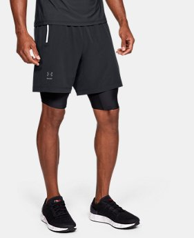 Men's UA Double Run 2-in-1 Shorts  1  Color Available $65