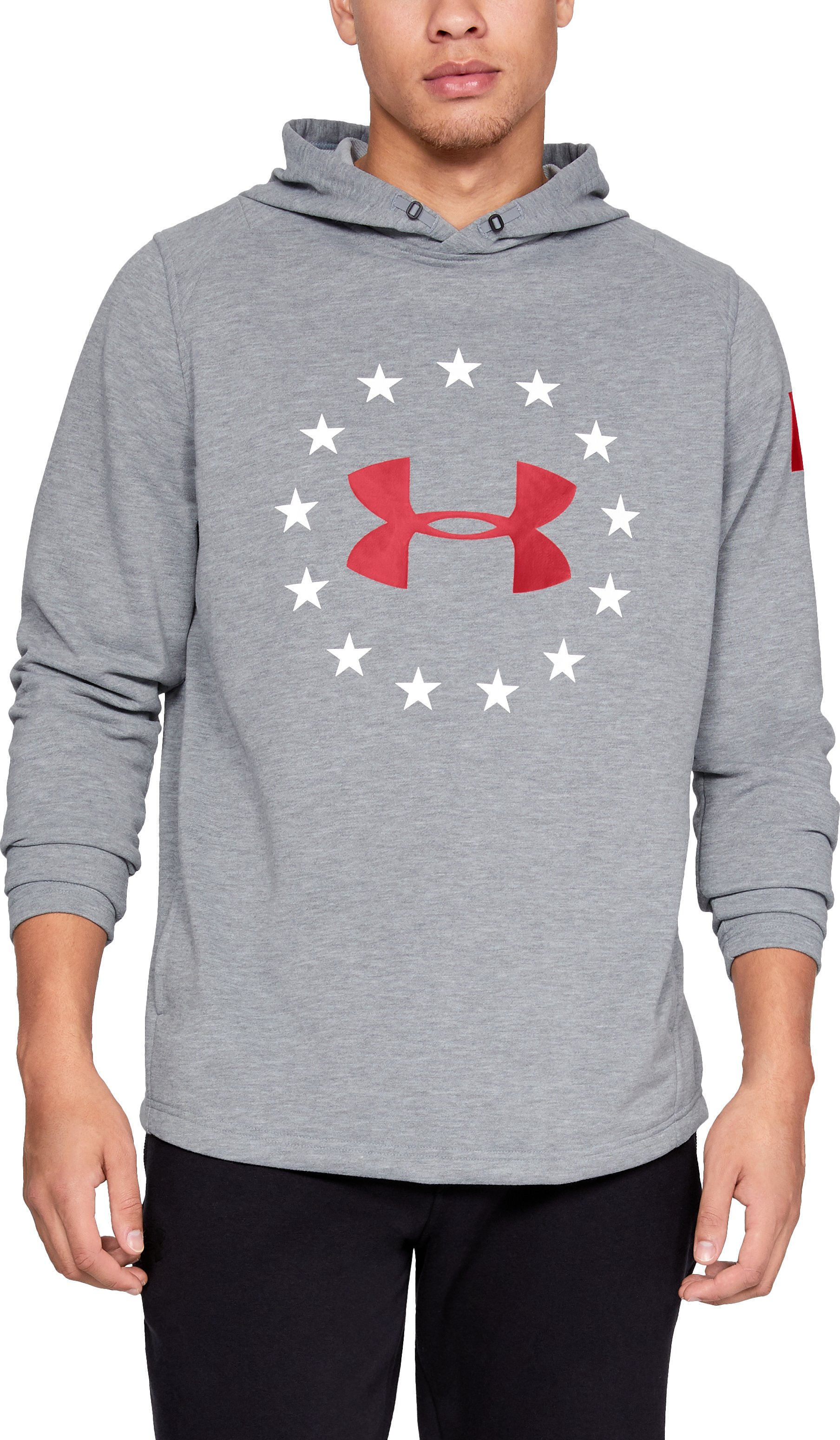 Men's UA Freedom Canada Tech Terry Hoodie, STEEL MEDIUM HEATHER