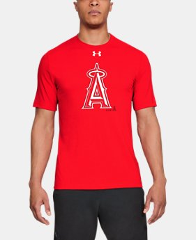 Men's MLB UA Stitch Logo Short Sleeve  1  Color Available $26.25