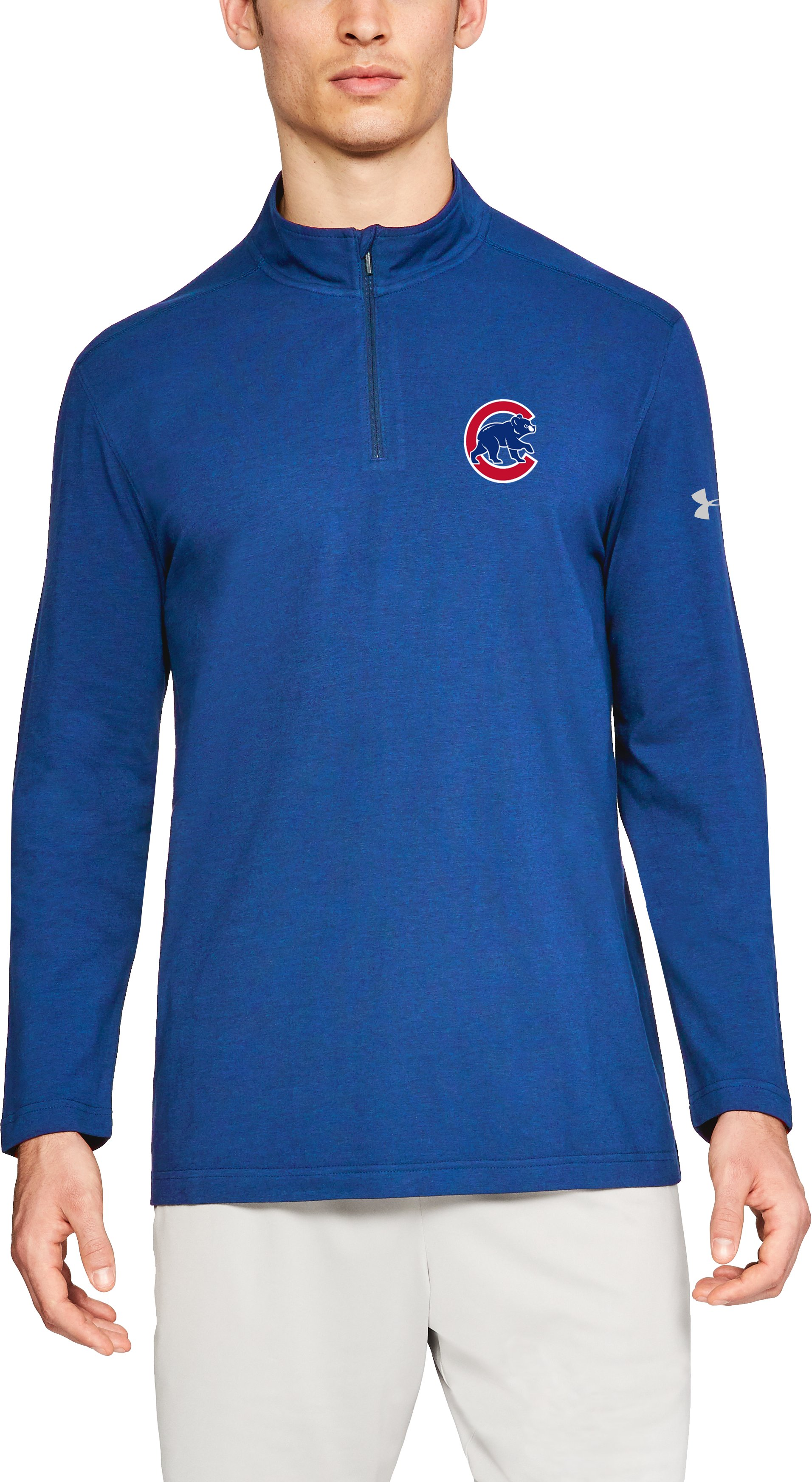 Men's MLB UA Chest ¼ Zip, MLB_CHC_Bright Royal, zoomed