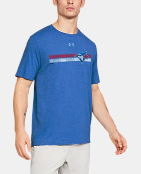 Men's MLB UA Tri-Blend Stripe Short Sleeve  1  Color Available $30