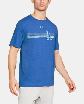 Men's MLB UA Tri-Blend Stripe Short Sleeve  1  Color Available $35
