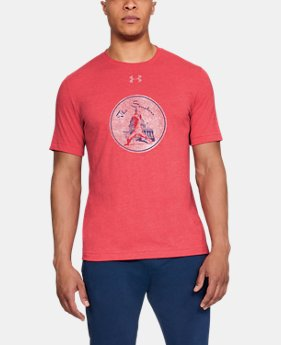 Men's MLB UA Tri-Blend Mark Coop Short Sleeve  1  Color Available $35