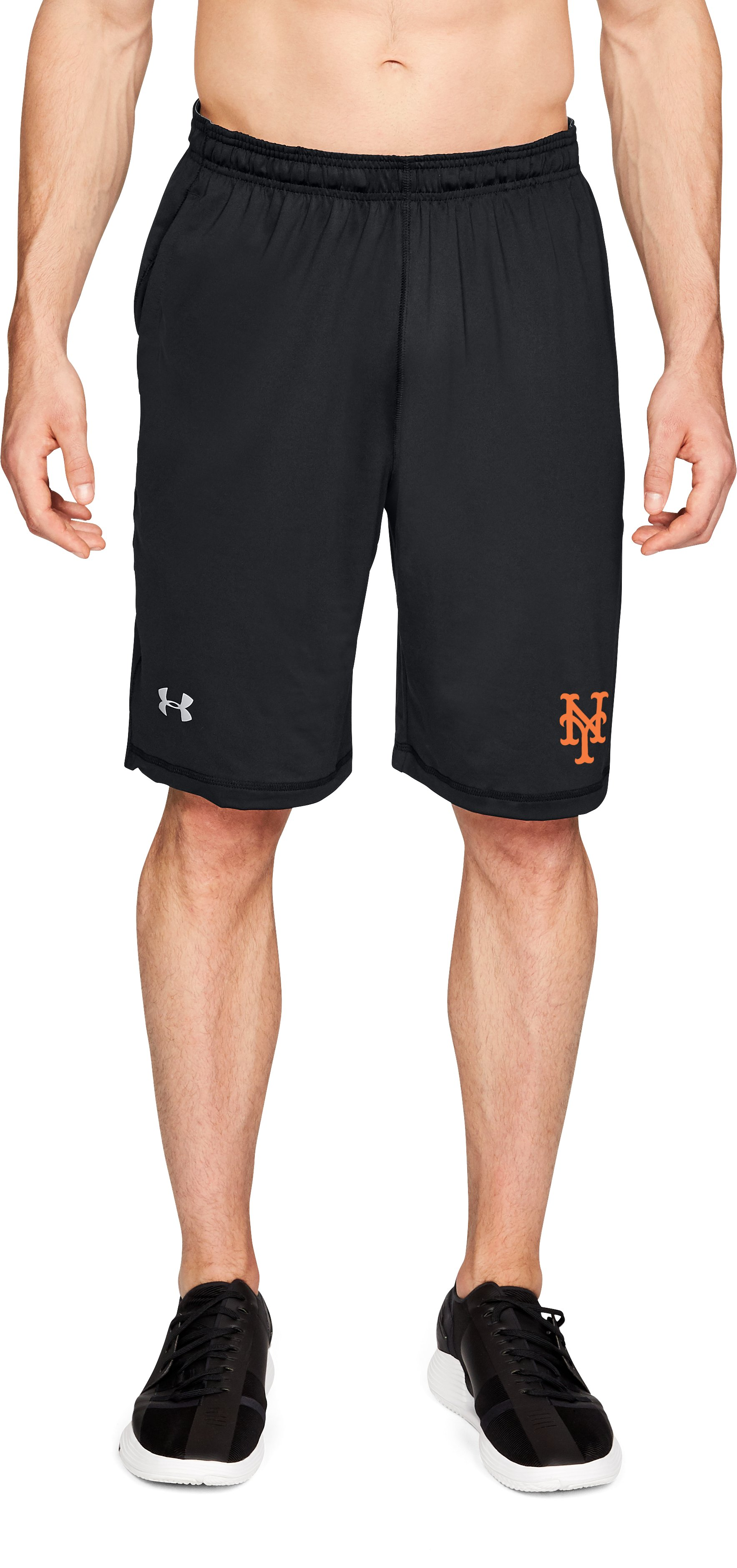 Men's MLB UA Raid Shorts, MLB_NYM_Black, zoomed