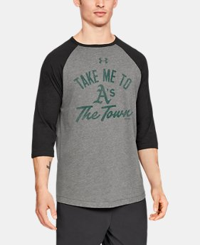 Men's MLB UA Tri-Blend Heritage ¾ Sleeve Shirt  1  Color Available $45