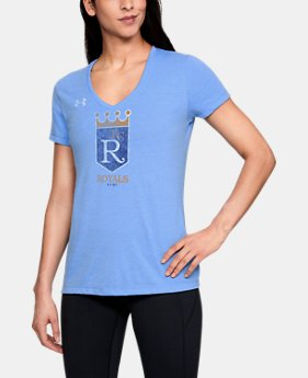 Women's MLB UA Tri-Blend Team Logo Short Sleeve  1  Color Available $35
