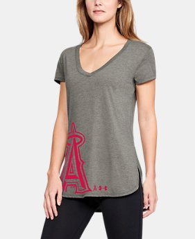 Women's MLB UA Tri-Blend Offset Short Sleeve  1  Color Available $30