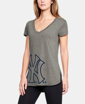 Women's MLB UA Tri-Blend Offset Short Sleeve   $33.75