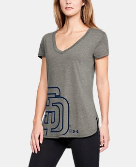 Women's MLB UA Tri-Blend Offset Short Sleeve  1  Color Available $40