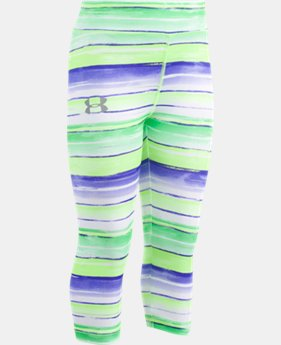 Girls' Pre-School UA Water Stripe Capris  1  Color $27