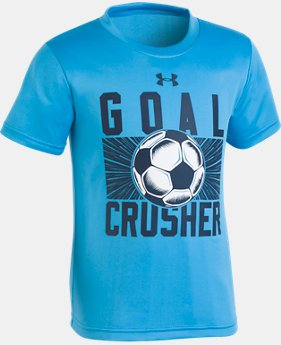 New Arrival Boys' Pre-School UA Goal Crusher T-Shirt  LIMITED TIME: FREE U.S. SHIPPING 2  Colors Available $18