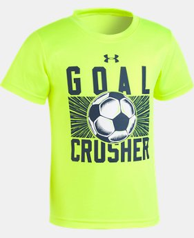 Boys' Pre-School UA Goal Crusher T-Shirt   2  Colors Available $18