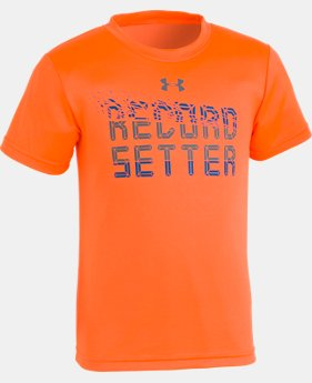 New Arrival Boys' Pre-School UA Record Setter T-Shirt   1  Color Available $18