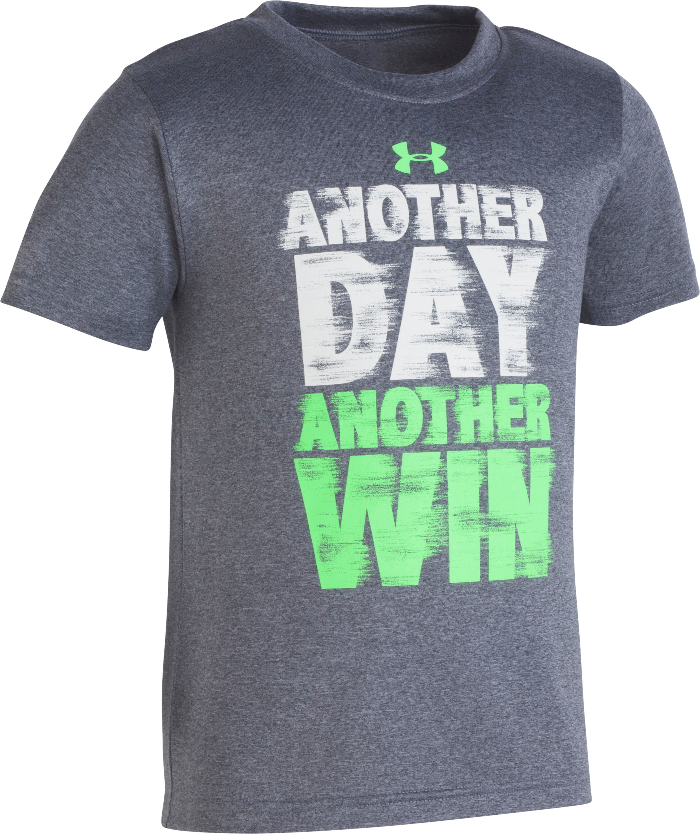 Boys' Pre-School UA Another Day Another Win T-Shirt , Charcoal Medium Heather, Laydown