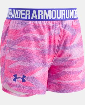 New Arrival Girls' Pre-School UA Kowar Play Up Shorts  1 Color $20