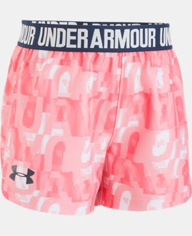 Girls' Pre-School UA Linear Wordmark Play Up Shorts  1  Color Available $20