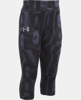 Girls' Pre-School UA Jumbo Linear Wordmark Capri  1  Color $20