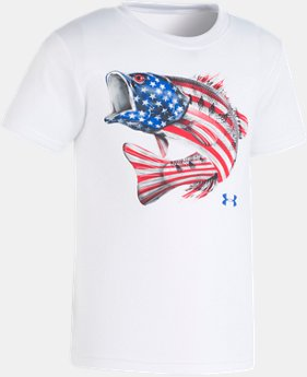 New Arrival Boys' Pre-School UA Flag Bass T-Shirt LIMITED TIME: FREE U.S. SHIPPING 1  Color Available $18