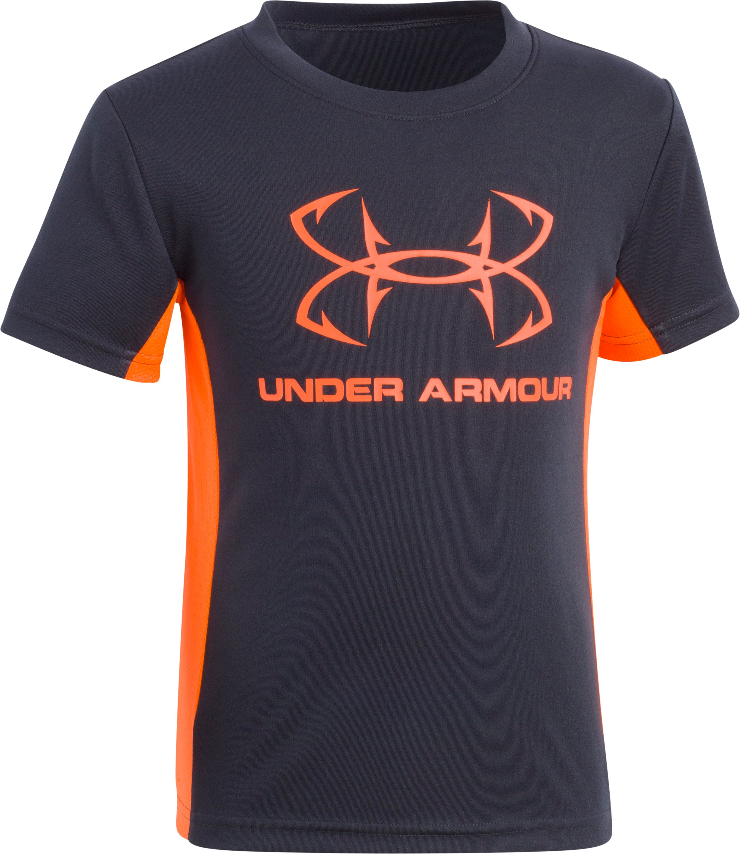Boys' Pre-School UA Hook Logo Tech T-Shirt, ANTHRACITE